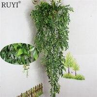 Hängen Pflanzen Künstliche Grüne Pflanze Blätter Wand Dekoration Balkon Korb/Kep Zubehör Decorattion Blume