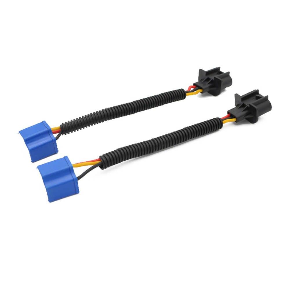 """2 шт. H13-to-H4 адаптер преобразования вилка подключения кабель 7 """"фара для Jeep Wrangler TD326"""