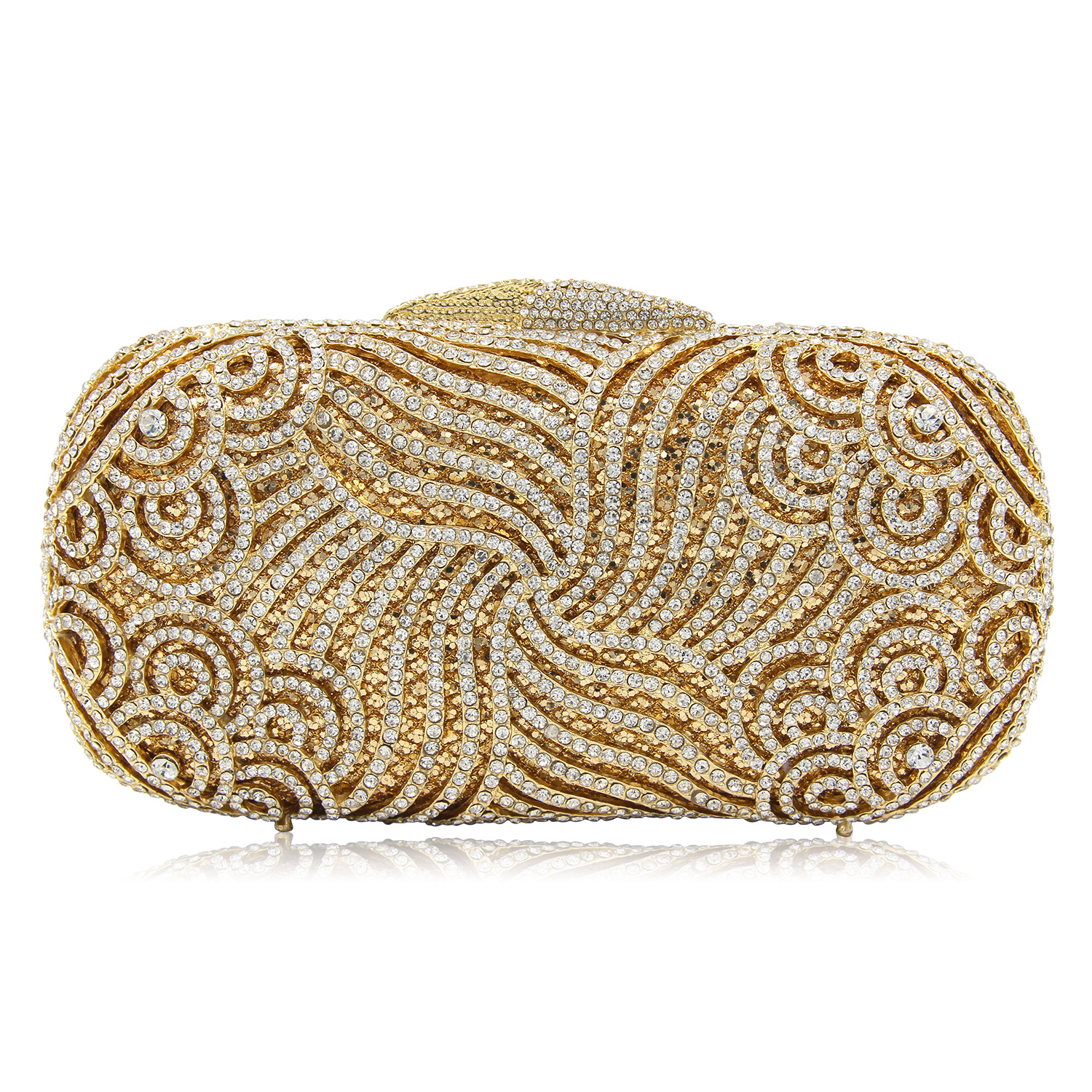 Women Bag Luxury Crystal Evening Clutch Full crystal Diamond Clutches Purses Party Gold Bags colourful bird women evening luxury bags crystal clutches laides evening bag female party hard case bags wedding clutch purses