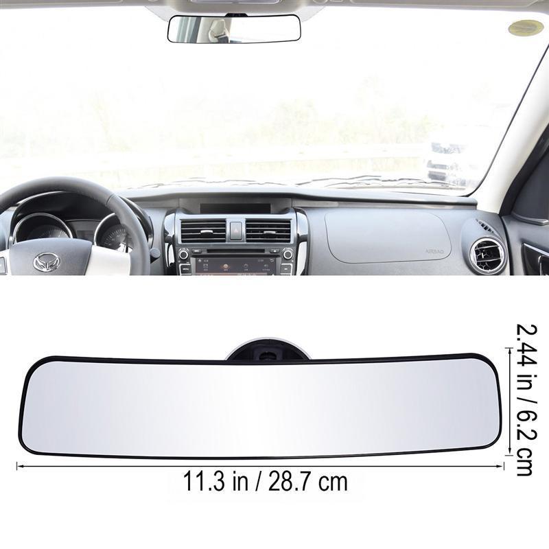 Panorámica espejo retrovisor Universal gran angular espejo retrovisor con succión instalación Interior del coche espejos espejo retrovisor
