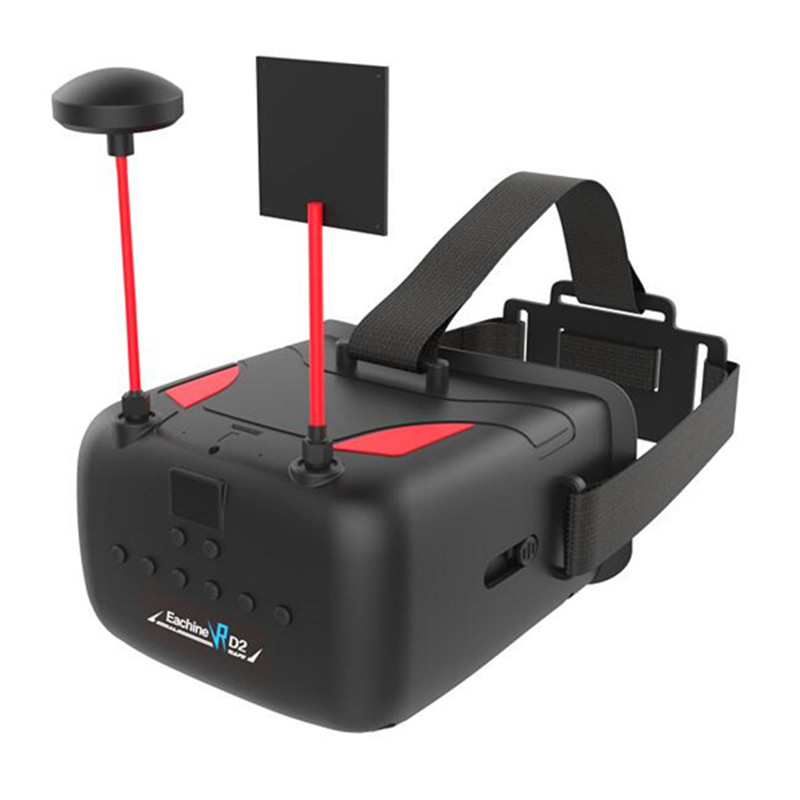 ФОТО eachine vr d2 5 inches 800*480 40ch raceband 5.8g diversity fpv goggles with dvr lens adjustable
