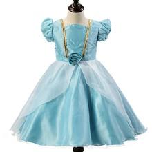 Cenicienta Vestido de Las Niñas Vestido de la Princesa Niños Vestidos de Fiesta para Niñas Traje Niñas Vestidos de Los Niños Vestidos de Ropa