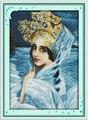 El hermoso Cisne princesa impreso lienzo DMC cuenta los Kits de punto de cruz chinos impresos punto de cruz conjunto bordado costura