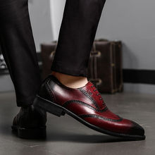 FELIX CHU 2017 Luxury Genuine Calf Leather Men Wedding Brogue Oxford Lace Up Burgundy Black Office Party Formal Dress Shoes Wide