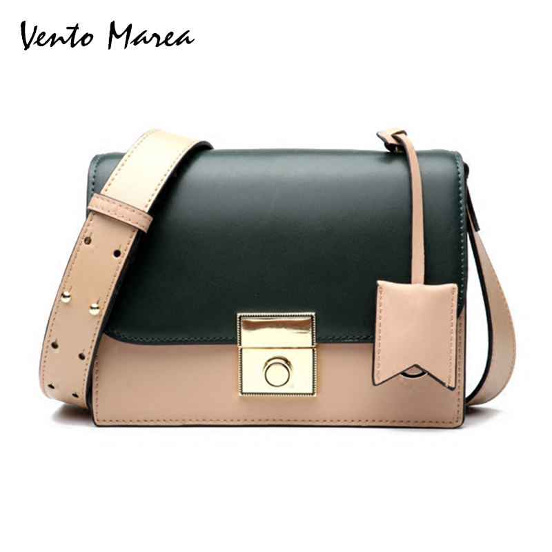 Vento Marea Small Ladies Messenger Bags Leather Shoulder Bags Women Crossbody Bag For Girl Brand High Quality Women Handbags