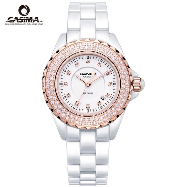 CASIMA Luxury Brand Women Watches montre femme Ceramic Women Quartz Watch Diamond Crystal Ladies Watch reloj mujer  female Hour