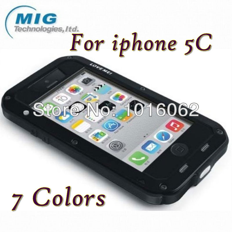 Love Mei Tri defend shockproof Aluminum metal case iphone 5C retail packaging 6 color - MIG Technology store