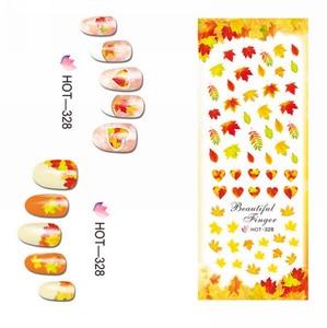 Image 2 - 3 paquets/LOT or automne feuille dérable ongles croix tatouages autocollant eau décalcomanie NAIL ART HOT328 330