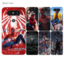 Uyellow Spiderman Marvel Silicone Case For LG G4 G5 G6 G7 V10 V20 V30 V40 Q6 Q7 Q8 Cover K8 K10 2018 Shell 2017
