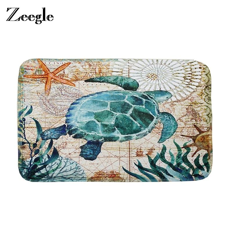 Zeegle Floor Mat Doormat Bathroom Carpet Turtle Pattern
