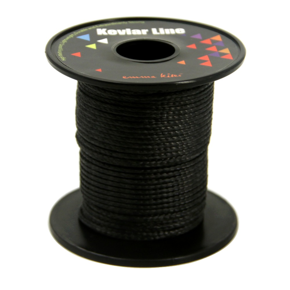 50ft 1800lb Kite Line Black Kevlar Line with Core 4mm Single Line Kite Flying String Fishing Line Outdoor Cord Rope 4mm 3960lb fishing rope braided fishing line accessories 15m uhmwpe safety survival utility cord large kite line string