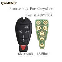 QWMEND 6BT 433Mhz Remote Key For Jeep IYZ-C01C M3N5WY783X For Jeep Grand Cherokee 2008 2009 2010 2011 2012 2013 2014 2015