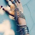 Bohemia Boho Chic turco joyería gitana plata del diseño Floral para para Antalya luna amantes Beachy Chic Coachella pulsera