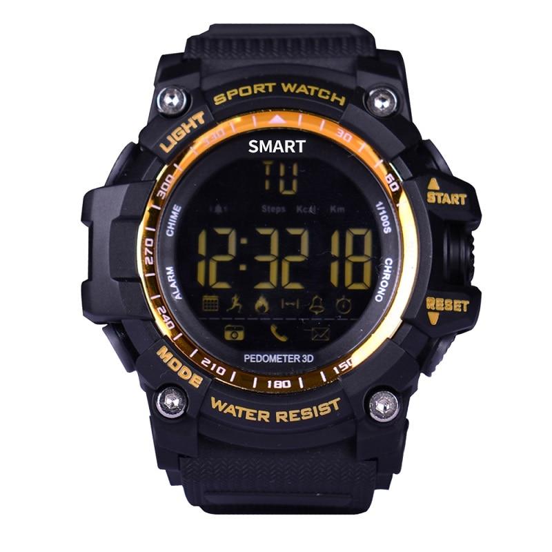 EX16 Bluetooth 4.0 Sport Smart Watch Remote Camera Shutter IP67 Waterproof LCD Displays Pedometer Calories Message Reminder