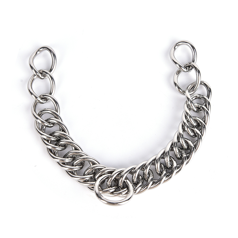 1pc Stainless Steel Double Link Curb Chain For Pet Horse Bits High Quality