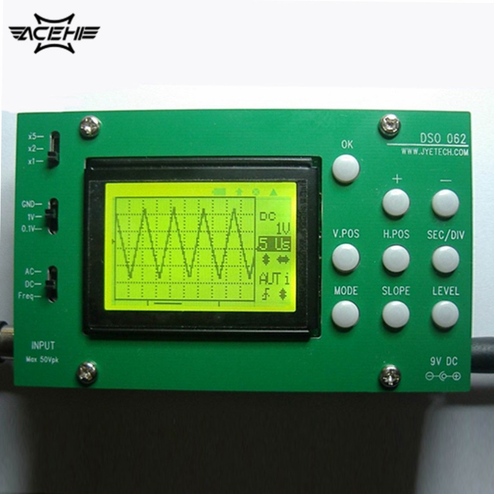 2016 Newest Digital Oscilloscope DIY Kit With Probe Handheld Pocket-size Oscilloscope Suit Electronic Learning Set ds202 low price pocket oscilloscope with color display