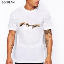 New Michelangelo Sistin T-shirts men Ulzzang Aesthetic Art tee shirt homme Casual Tops Tee Vintage t camiseta hombre