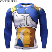 Dragon Ball T shirts Men Anime Fitness T shirts Cosplay Compression Tshirts Bodybuilding Tops Tees Naruto