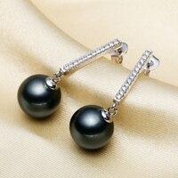 Women Gift word 925 Sterling silver real [beautiful] Nanyang pearl shell pearl earrings Seashell pearl earrings earrings gorgeou