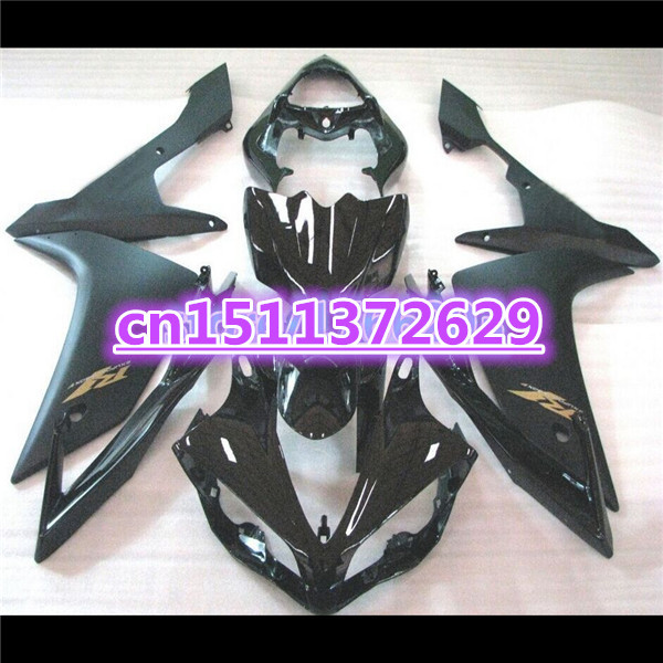 100%new <font><b>Fairings</b></font> for YZF <font><b>R1</b></font> 07 08 YZF-<font><b>R1</b></font> 07-08 all black YZF1000 <font><b>R1</b></font> 07 08 YZF <font><b>R1</b></font> <font><b>2007</b></font> 2008 <font><b>fairing</b></font> kits-Dor for <font><b>Yamaha</b></font> D image