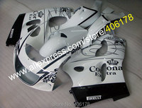 Лидер продаж, белый корна обтекатель для 1996 2000 suzuki SRAD Обтекатели GSXR600 GSXR750 GSXR 600 750 96 97 98 99 00 96 00 обтекателя