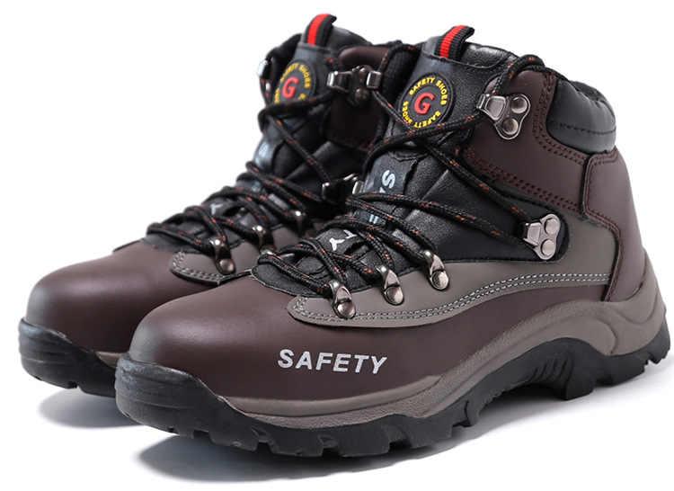 Artı Boyutu 48 Güvenlik Ayakkabıları çelik burun Anti-smashing Bıçak dayanıklı Rahat Sitesi Ayakkabılar Kış Erkekler Açık iş ayakkabısı