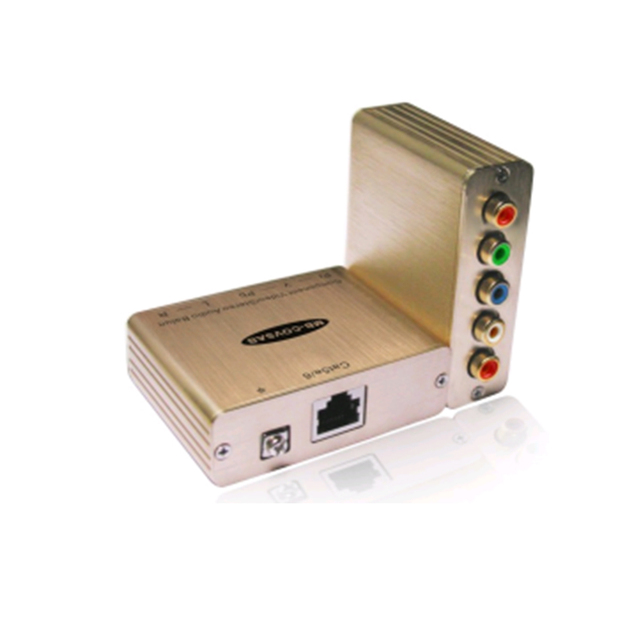 Video Splitter 1 CH Component/Stereo Audio Balun HD Resolution and Stereo Audio for Commercial Residential AV Applications