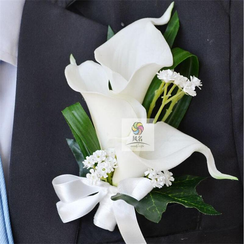 Diy new style handmade artificial flowers groom diy new style handmade artificial flowers groom boutonniere best man wrist corsage for party flowers decoration for wedding mightylinksfo