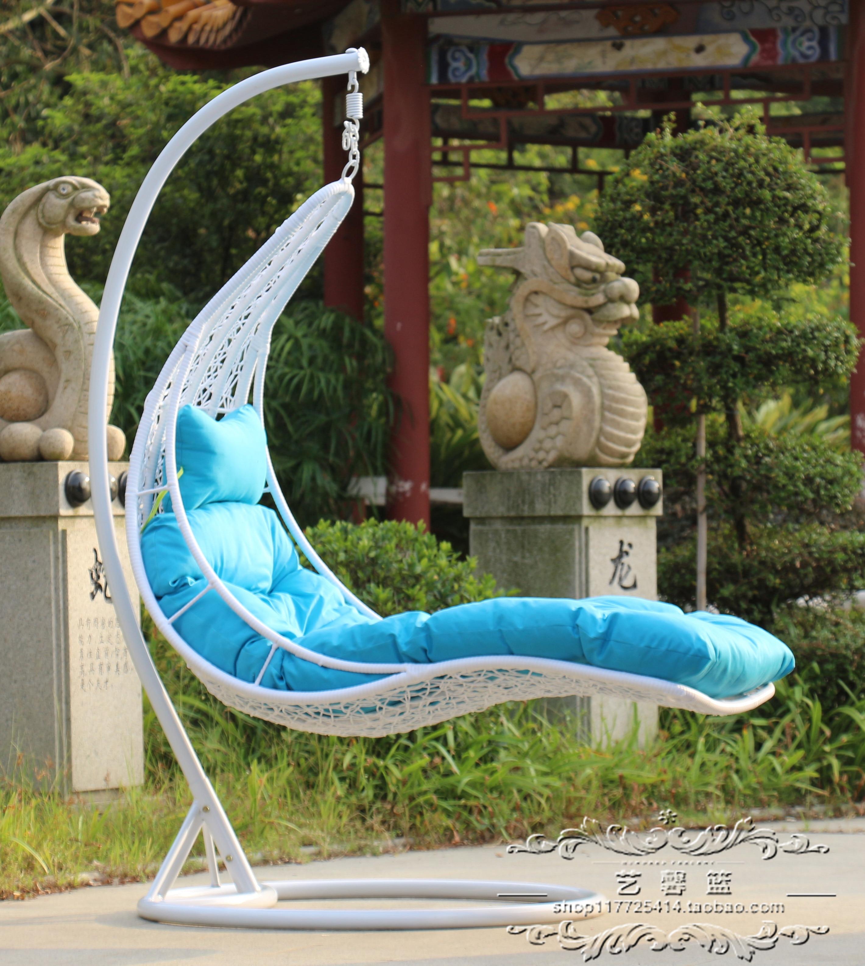 Rattan Basket Hanging Chair Wrought
