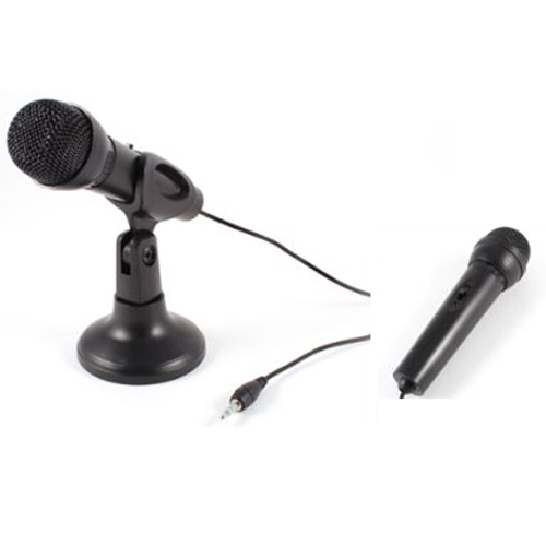New Hot Omnidirectional Laptop PC Computer 3 5mm Network Stand Mini Microphone Mike Black