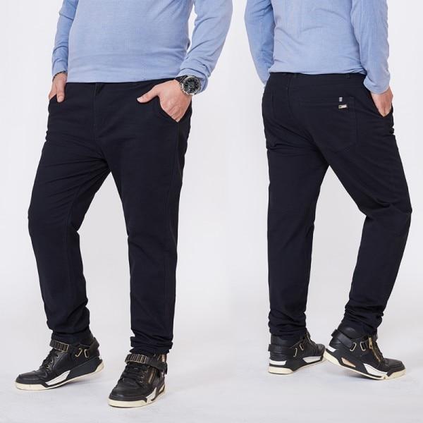 Топ размера плюс 6xl 46 44 48 мужские большие хип-хоп брюки хлопок Новые Большие размеры мужские повседневные брюки - Цвет: blue 1