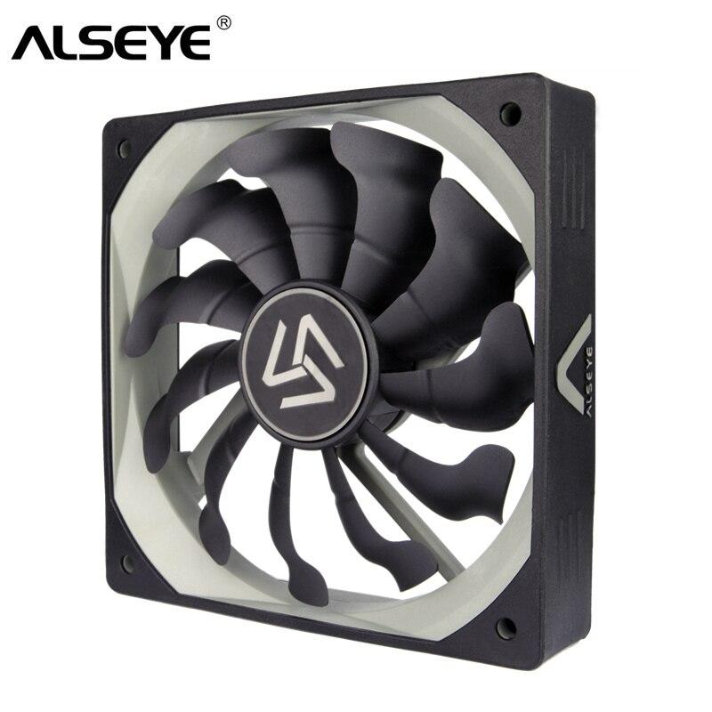 Alseye s-120 de la computadora ventilador, 120mm abanicos para Caja de la Computadora/CPU Cooler/Refrigeración Por Agua, DC 12 v 1200 RPM 3 Pin Ventiladores