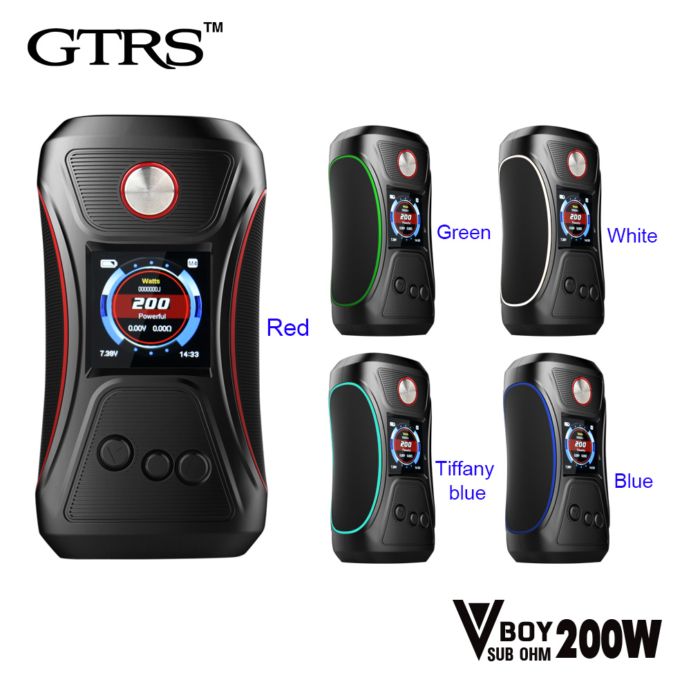 Original GTRS Vboy 200W Box mod SX500 chip High-performance Chipset 18650 V BOY 200 E Cigarette Mods vaporizer купить в Москве 2019