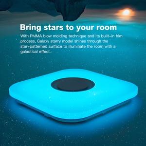 Image 5 - Modern intelligent LED ceiling lamp RGB dimmable APP remote control Bluetooth speaker living room bedroom 90 260v ceiling light