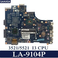 KEFU VAW00 LA 9104P Laptop motherboard for DELL 3521 5521 Test original mainboard I3 CPU GM
