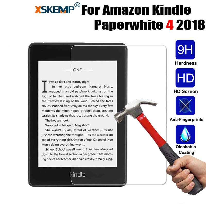 XSKEMP For Amazon Kindle Paperwhite 4 2018 (10th Generation - 2018 Release) Premium Tablet Tempered Glass Screen Protector Film