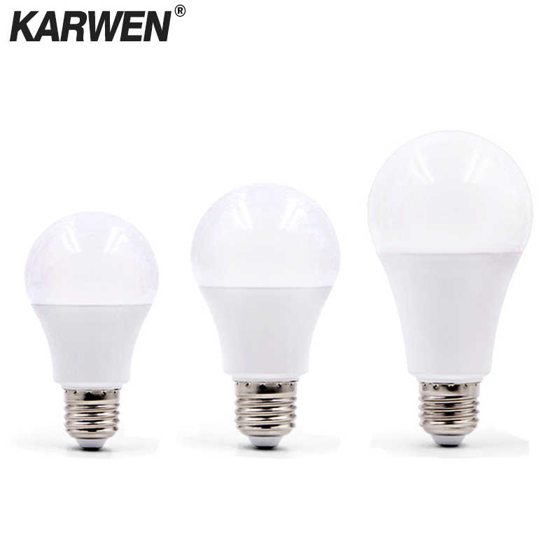 KARWEN E27 LED lamp AC 220V 230V 240V LED Bulb 3W 5W 7W 9W 12W 15W 18W High Brightness Spotlight Table lamp Livingroom light