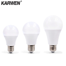 KARWEN E27 LED lamp AC 220V 230V 240V Bulb 3W 5W 7W 9W 12W 15W 18W High Brightness Spotlight Table Livingroom light