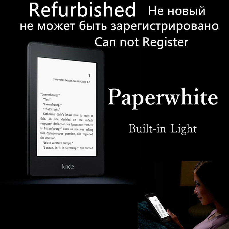 US $90 0 50% OFF|Refurbished Kindle paperwhite 6 generation ebook reader e  book ebooks E ink Display With Built in Light no box-in eBook Reader from
