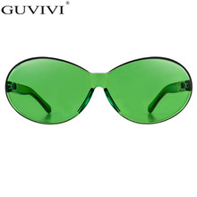 Уникальные солнцезащитные очки без оправы Женщины Новые трендовые товары Высокого качества Красный