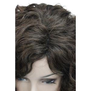 Image 5 - StrongBeauty Medium Curly Wig Hair Brown Womens Synthetic Capless Wigs Natural