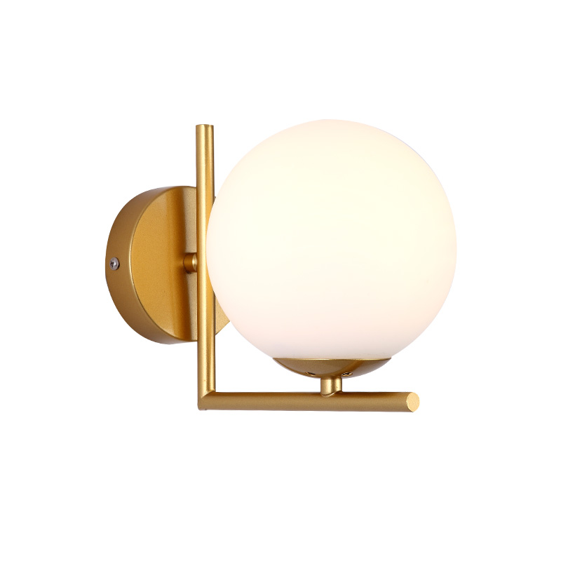 Able Modern Nordic Glass Meta Black/gold Ball Retro Vintage Wall Lamp E27 Loft For Cafe Bedroom Foyer
