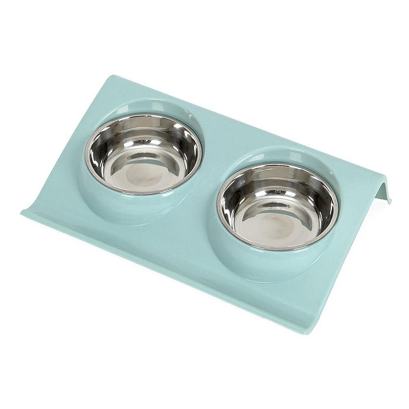 New-Stainless Steel Double Pet Bowls Food Water Feeder For Dog Puppy Cats Pets Supplies Feeding Dishes