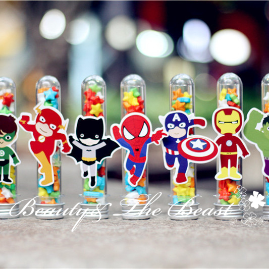 Superhero The Avengers Candy Box Gift Box Candy Dessert Party Supplies Birthday Party Decorations Kids Baby Shower Cake Table