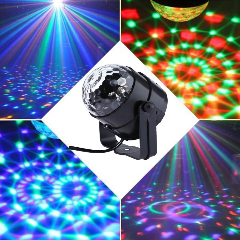 Mini DJ Remote Ball Strobe Light Stage Lighting Effect LED Crystal Rotating USB 4m RGB Lamps Party Disco Dancing Bulb Gift Light auto disco dj stage lighting car led rgb crystal ball lamp bulb light effect party