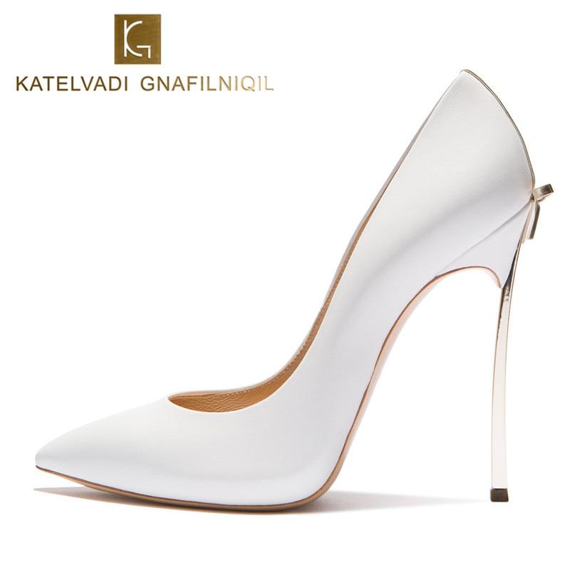 Brand Wedding Shoes Woman High Heels Bridal Shoes With Bow Sexy Women Shoes High Heels Designer Women Pumps Stiletto 10CM Heels
