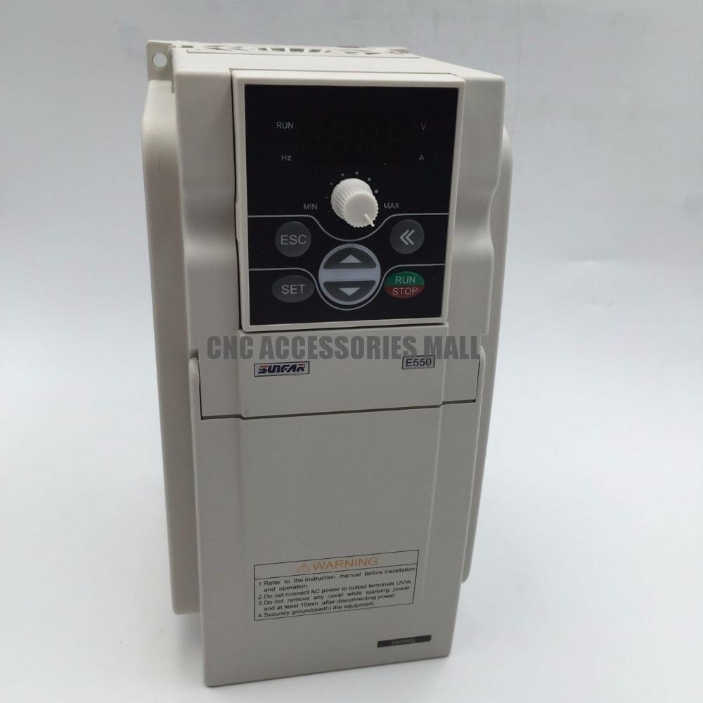 Sunfar E550 série 2HP 1.5KW E550-2S0015 Variable Variateur de Fréquence (VFD) AC 170-270 V pour moteur vitesse contrôle