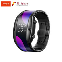 NEW Nubia ALPHA Watch phone 4.01foldable flexible display Sports Real time message reminder Bluetooth calling Mid air gestures