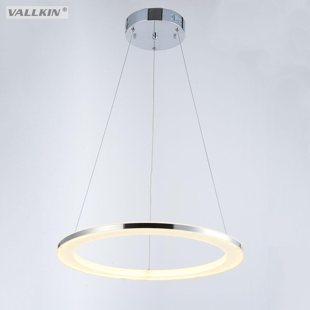 Современный подвесной светильник светодиодный подвесные светильники одно кольцо акриловые светильники Светодиодный освещения для жизни ...