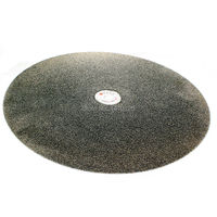 16 Inch 400mm Grit 46 Very Coarse Diamond Coated Flat Lap Disk Grinding Polishing Wheel For
